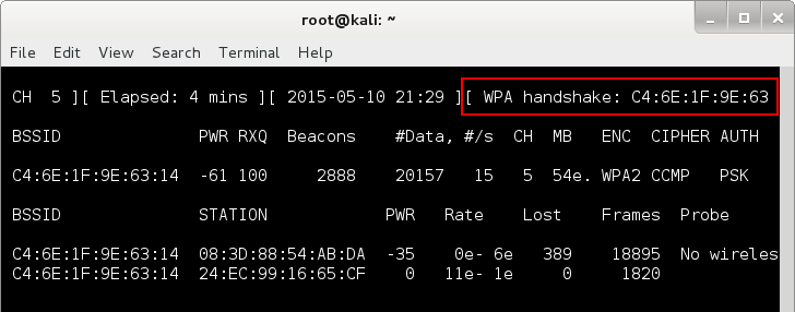 Wireless hacking for the masses - airodump handshake